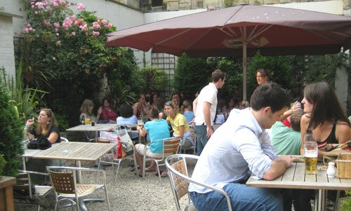 Outdoor area at the Slug and Lettuce